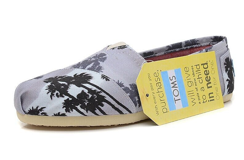 77ed82fca81 Toms Palm Trees Women Classics Shoes Black