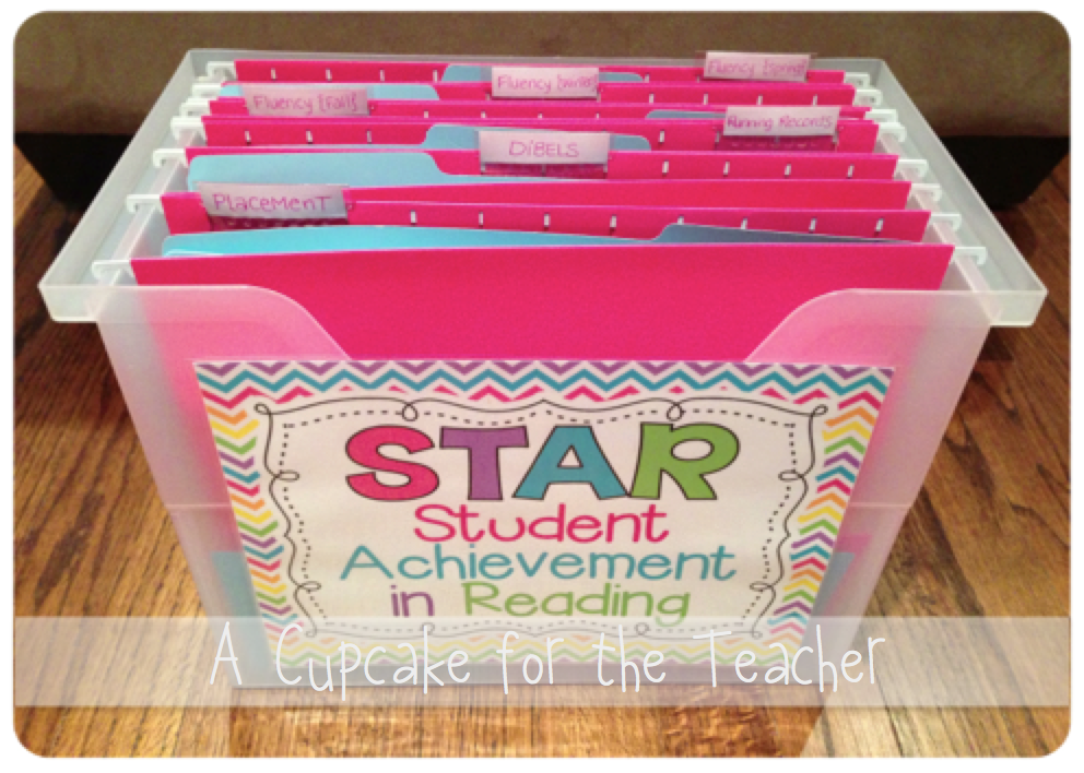 Reading Assessment Hanging Folder Organizer Inside Of The