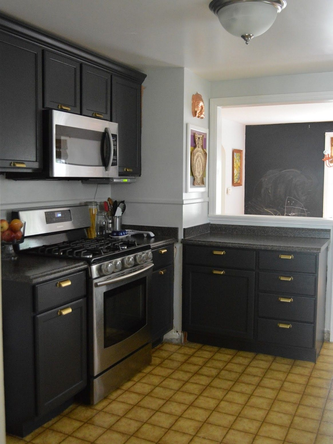 Wall color gray kitchen cabinets sinhvienthienan