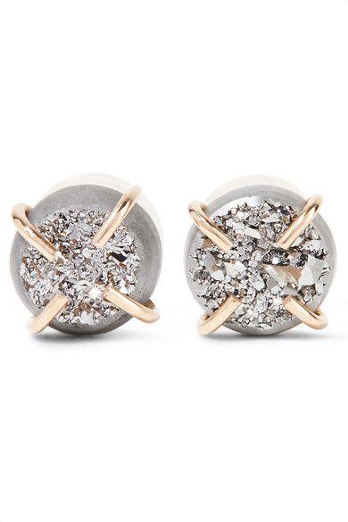 14-karat Gold Druzy Earrings - one size Melissa Joy Manning QbRp2a