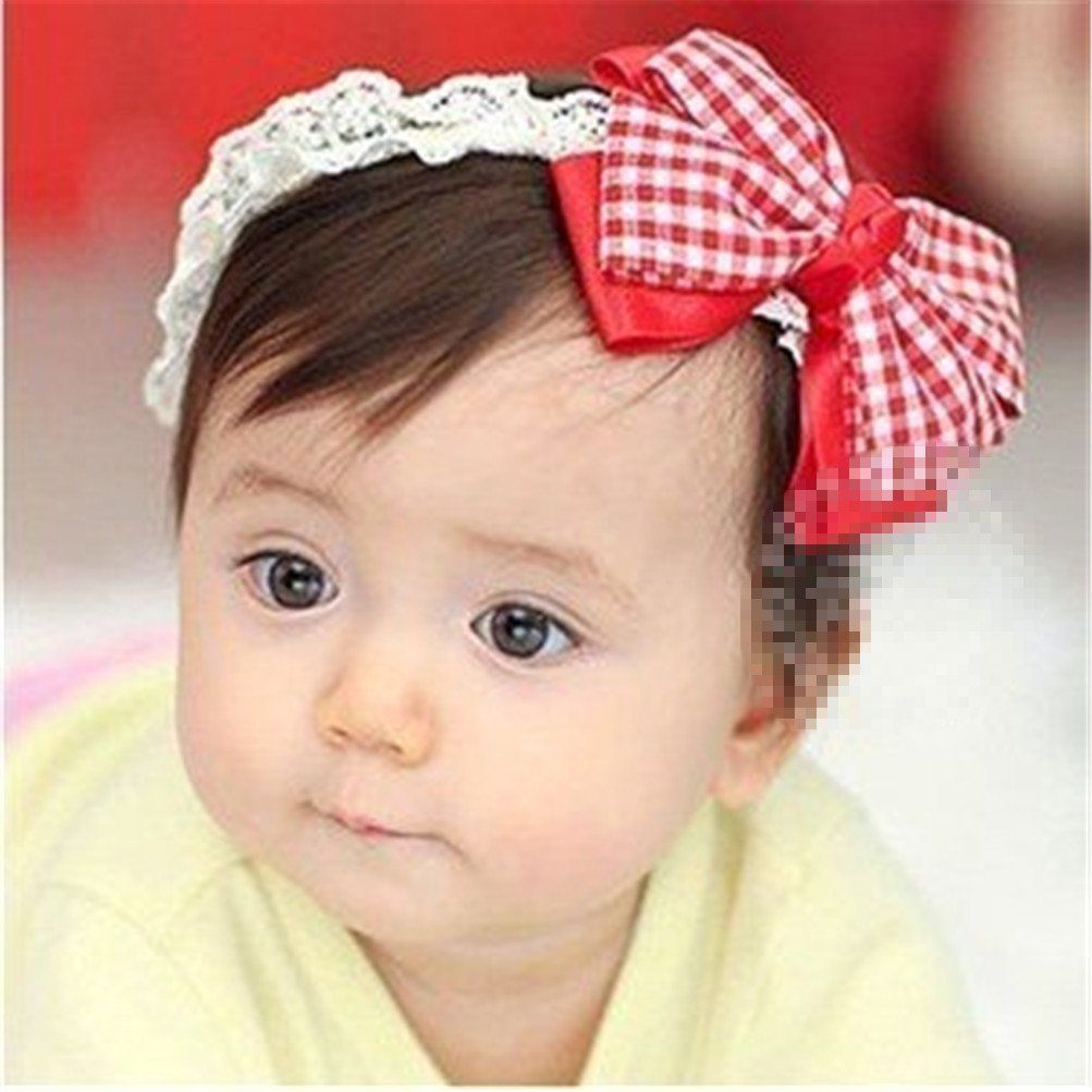 1PCS Baby Girls Newborn Bowknot Hair Band Hair Wear Headwear Hairband Hairwear