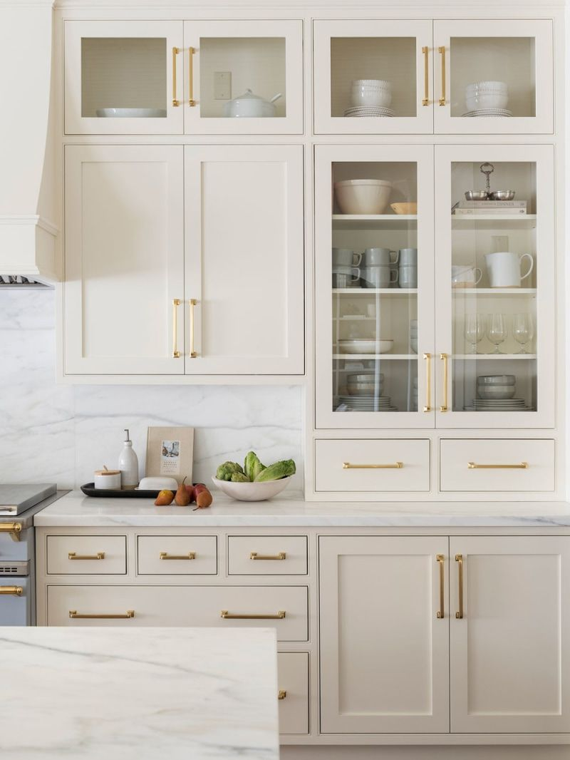 The 7 Best White Paint Colors For Kitchen Cabinets Kitchen Cabinet Design Beige Kitchen Beige Kitchen Cabinets