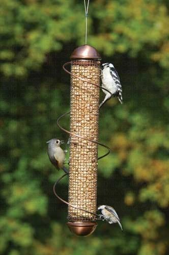 Shelled Peanut Bird Feeder W Spiral Copper 17 Inch Bird Feeders Peanut Bird Feeder Unique Bird Feeders