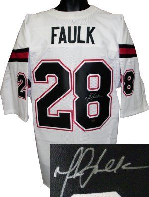 the best attitude 2600b 18a02 Marshall Faulk signed San Diego State White Custom Jersey ...