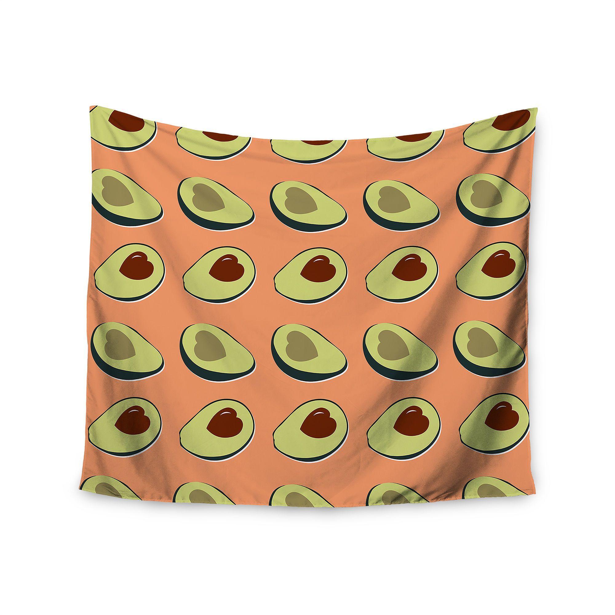 Kess InHouse Kess Original 'Avacado Love' Food 51x60-inch Tapestry