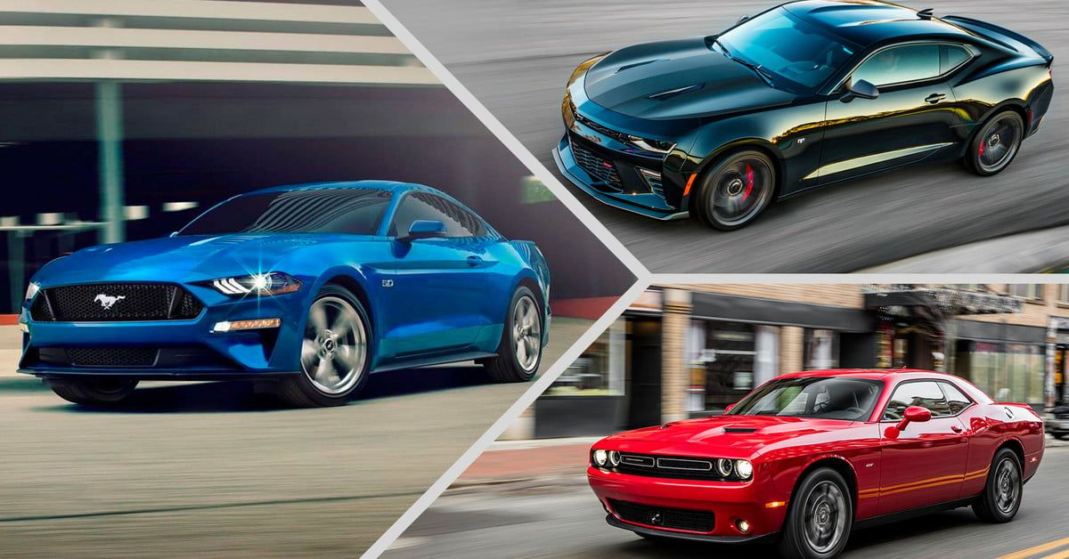 Modern Muscle Cars Ford Mustang V Chevy Camaro V Dodge