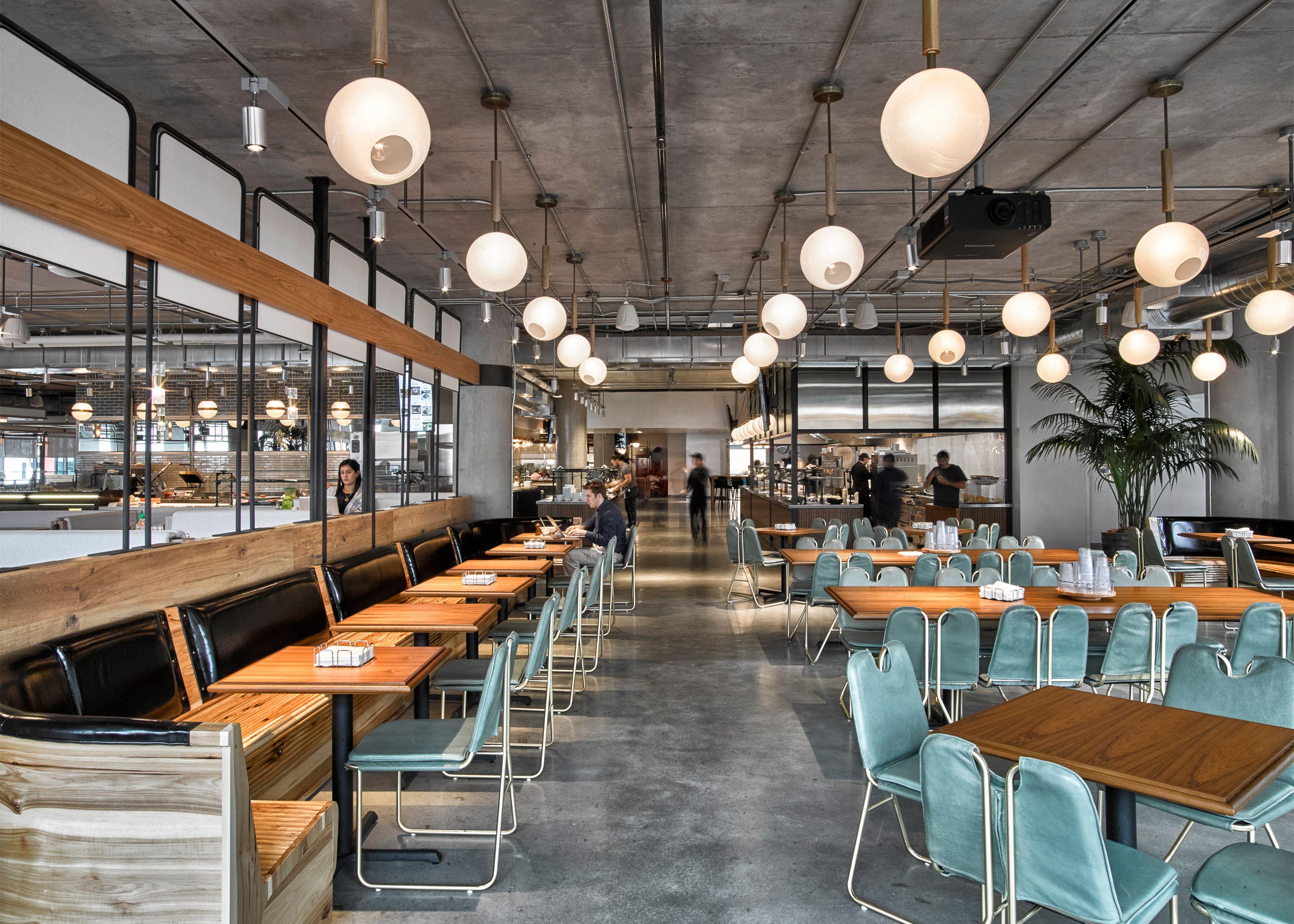 Dropbox Opens Industrial Style Cafeteria At California Headquarters Dezeen Cafeteria Design Cafe Design Interior Design Magazine