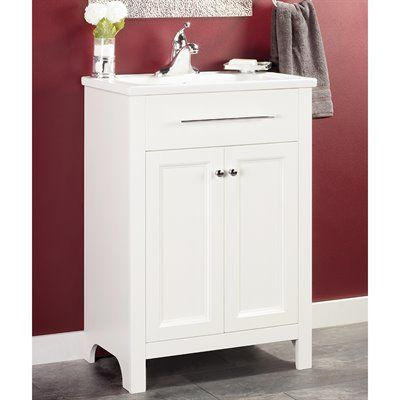 Foremost Madison White Integral Bathroom Vanity with ...