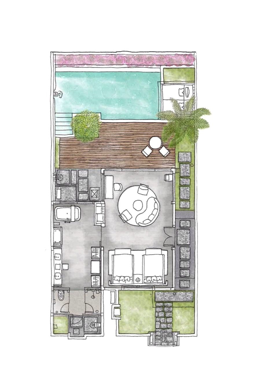 Six Senses Uluwatu Bali Cliff Pool Villa One Bedroom
