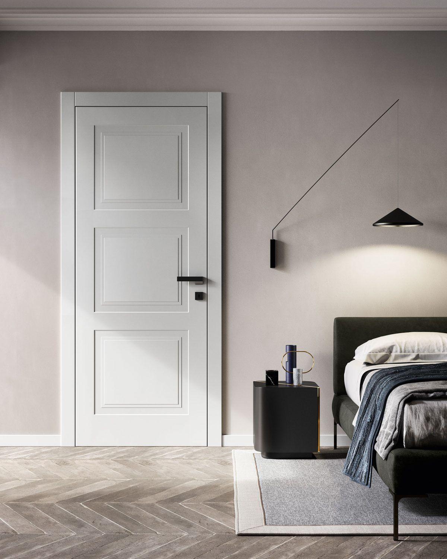 Colori Porte Interne Moderne porte laccate da interni pantografate: collezione milia