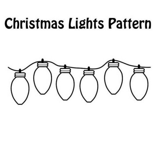 Print coloring page and book, Christmas Lights Coloring