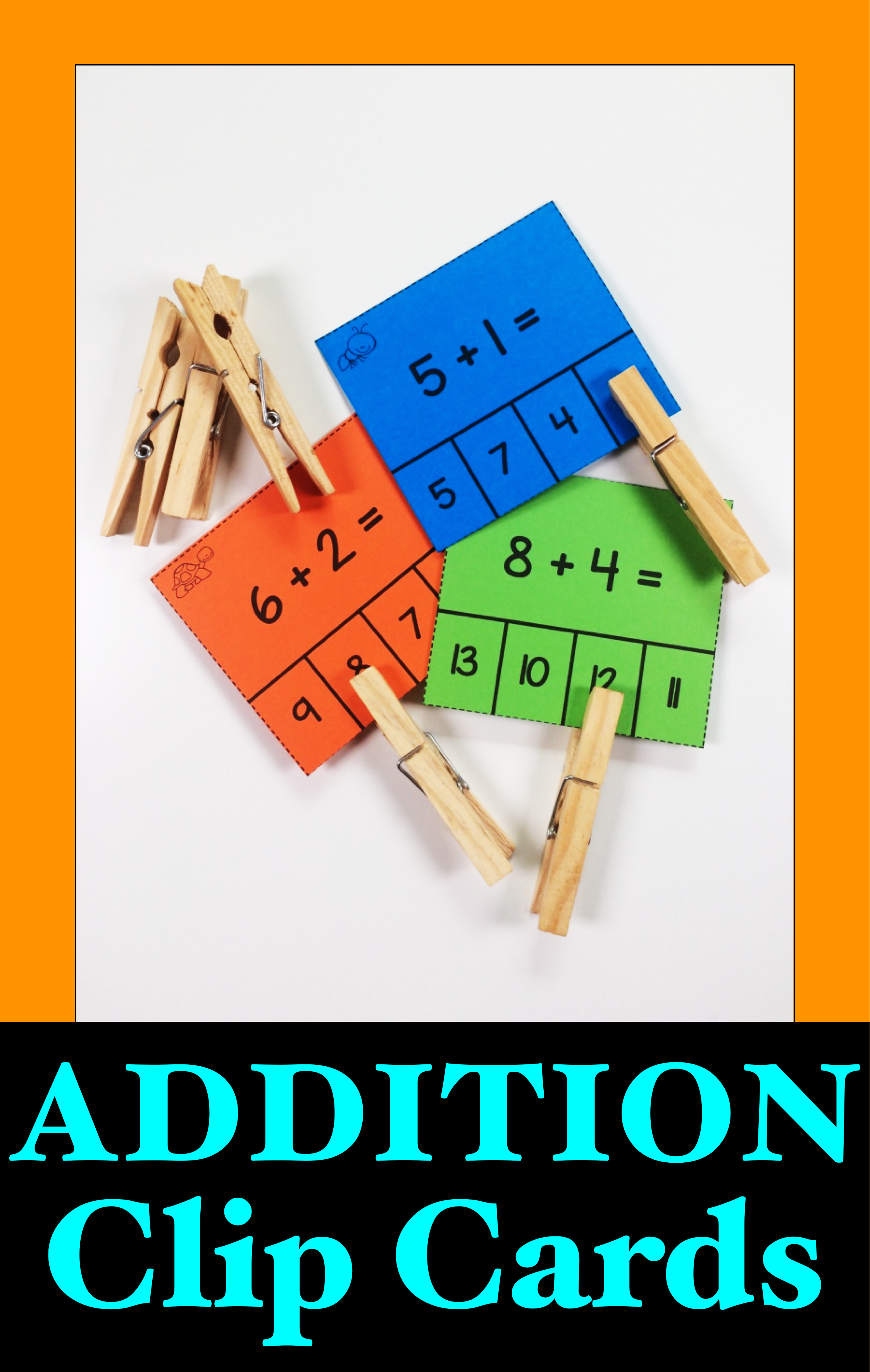 Addition Clip Cards Addition Activity For Adding 1