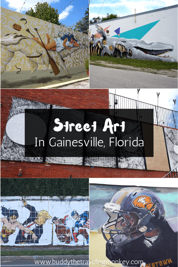 Street Art In Gainesville, Florida is part of Street Art In Gainesville Florida Buddy The Traveling Monkey - Gainesville, Florida has a growing urban art scene, with new street art and murals popping up all around the city