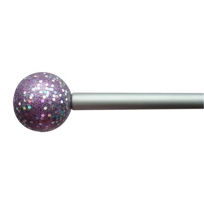 Style Selections LO-2141 Purple Metal Single Curtain Rod | *Window ...