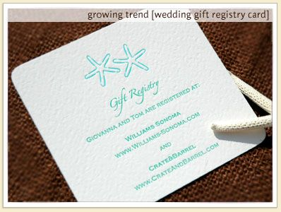 Images Of Bridal Registry Custom Letterpress Gift Wedding Cards Sample Design Below