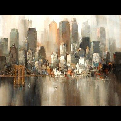 tableau de new york autour d 39 un cadre encadrement peinture restauration cuadros de