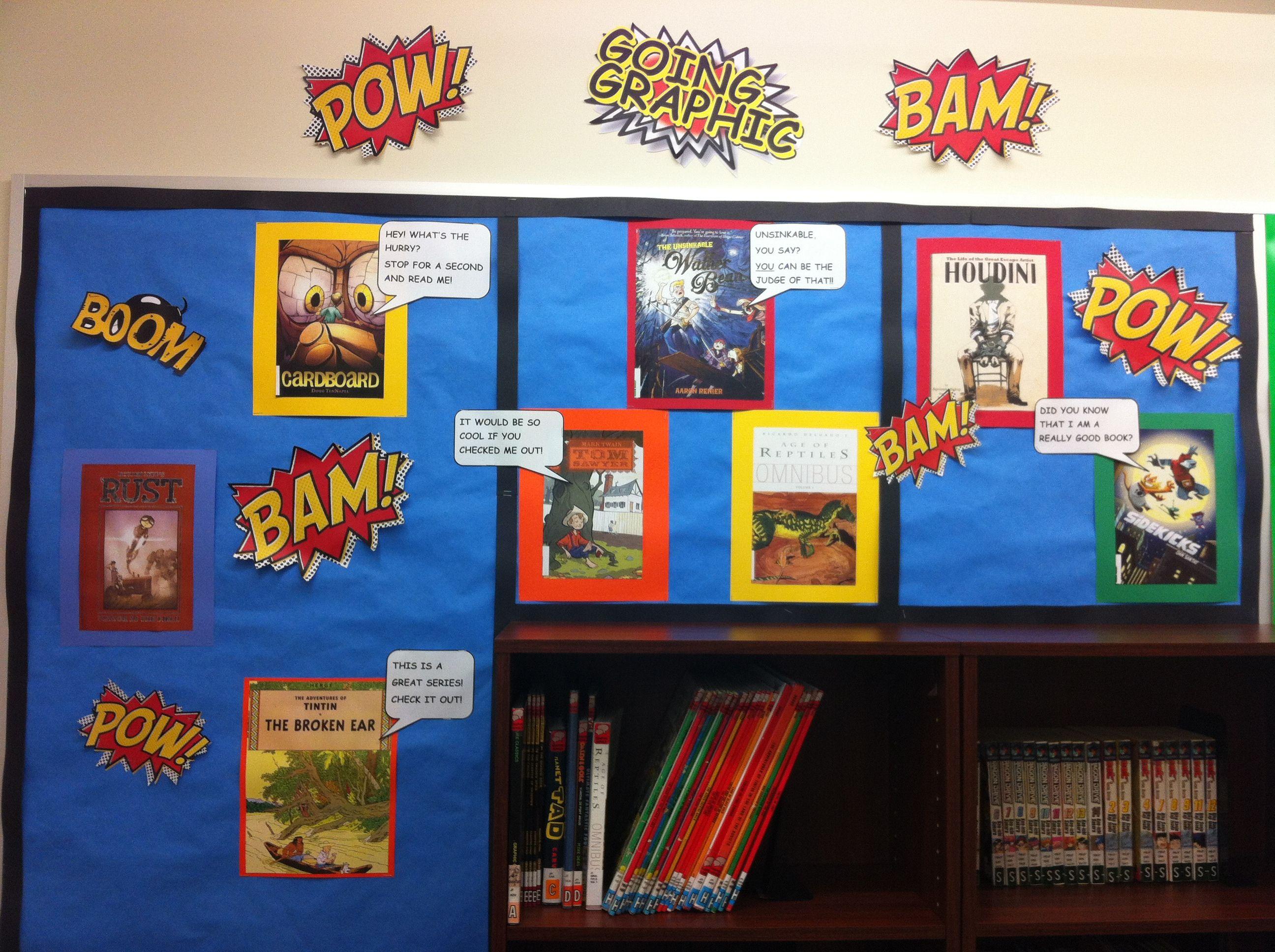 Lower School Library Graphic Bulletin Board