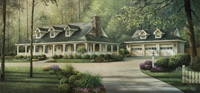 Southern Style House Plan 3 Beds 2 Baths 1944 Sq Ft Plan 57 329 Victorian House Plans House Plans And More Ranch House Plans