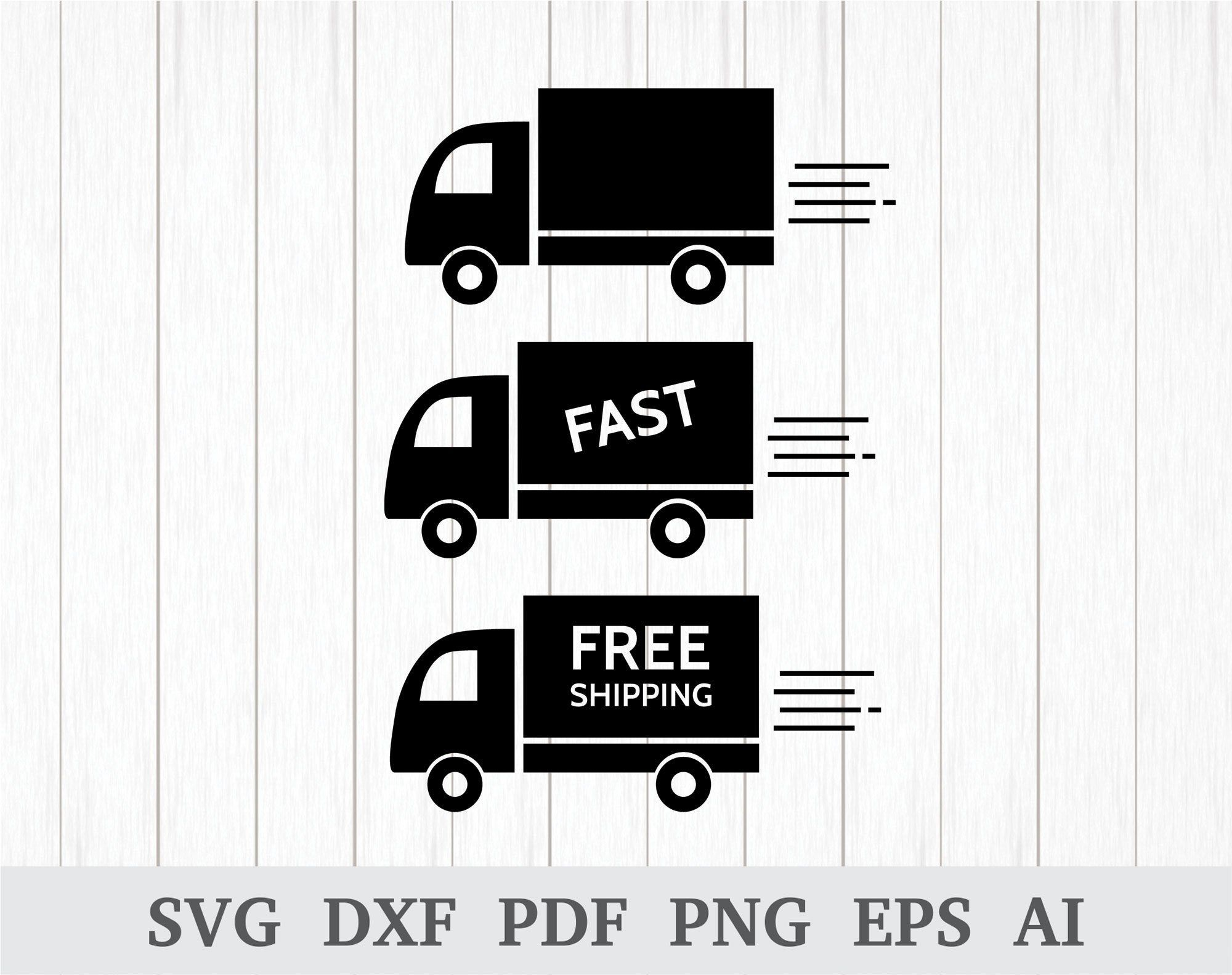 Delivery Van Svg Fast Delivery Svg Free Shipping Svg Ecommerce