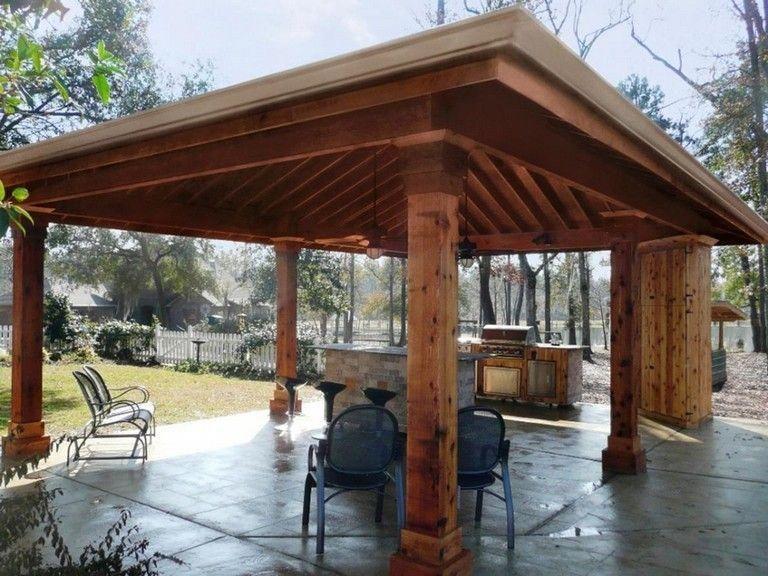 32 Stunning Outdoor Kitchen Pavilion Designs Ideas Pavilion Design Outdoor Kitchen Entertaining Guests