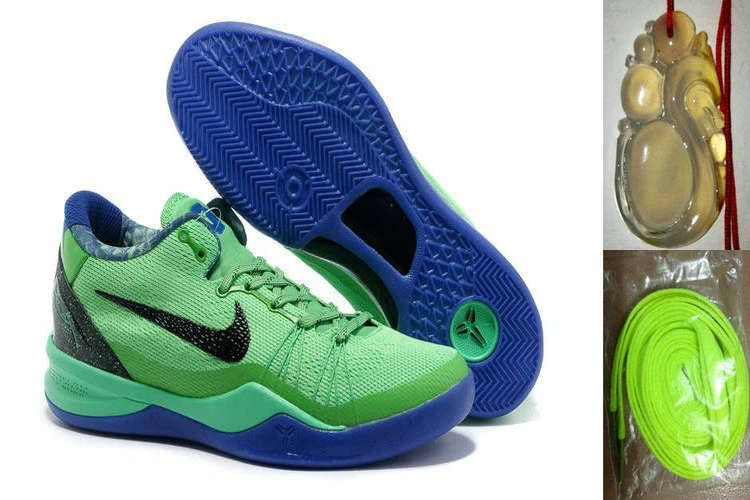 low priced c4460 5f662 Wholesale Cheap Nike Kobe 8 System Elite Superhero 586590 300 with  Chalcedony Pendant   Volt Lace