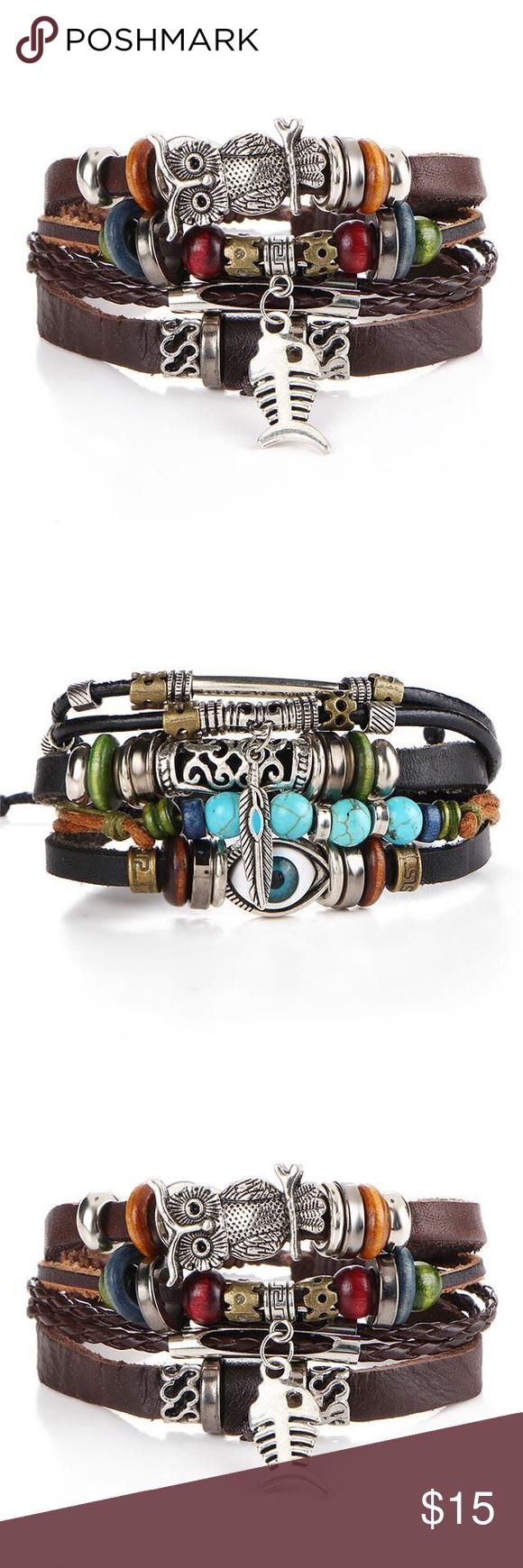 Punk design turkish eye bracelets for men u woman punk design