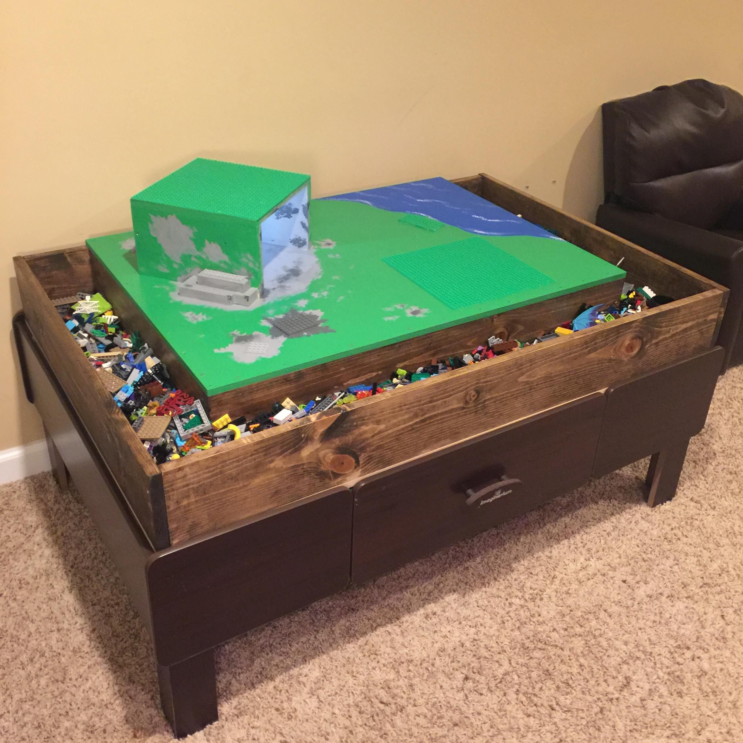 Train Table To Lego Table Conversion Lego Table Lego Table Diy Kids Bedroom Designs