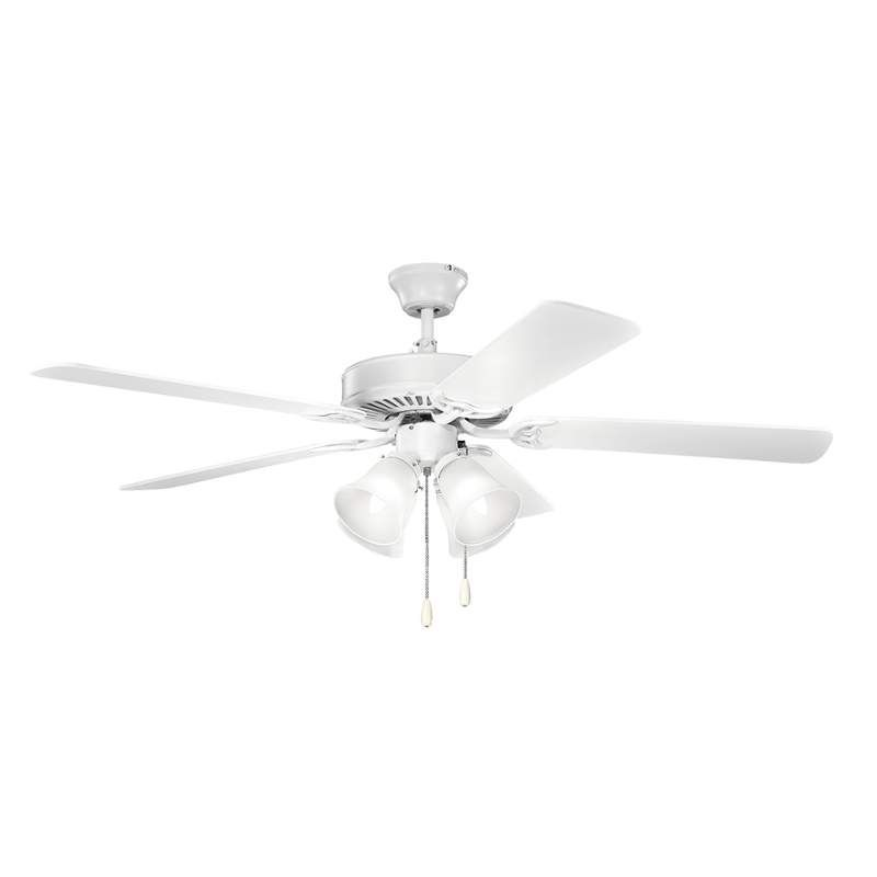 "Kichler 402 52"" Indoor Ceiling Fan with Blades Light Kit Downrod and Pull Chai"