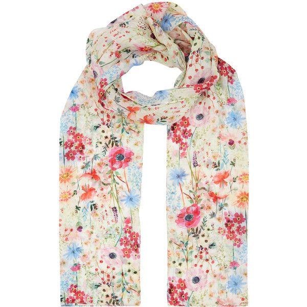Accessorize Bright Floral Silk Classic Scarf 23 Liked On Polyvore Featuring Accessories Scarves Silk Shawl Bright Scarves Bright S Simple Outfits Fashion Clothes