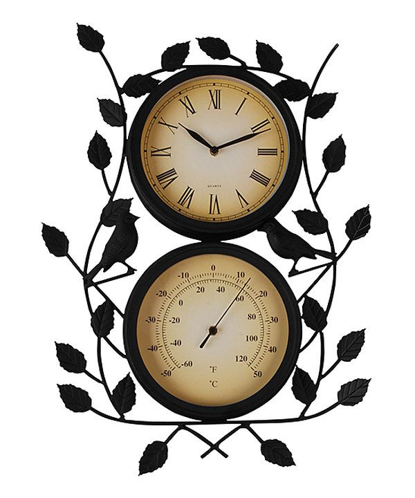 New Garden Birdcage Grand Central Clock Weather resistant powder coated finish.