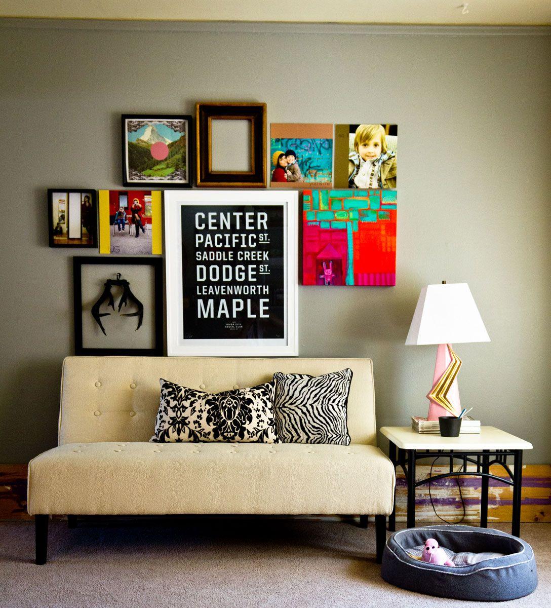 Art Walls salon wall in an asymmetrical pattern. #interior #design | live
