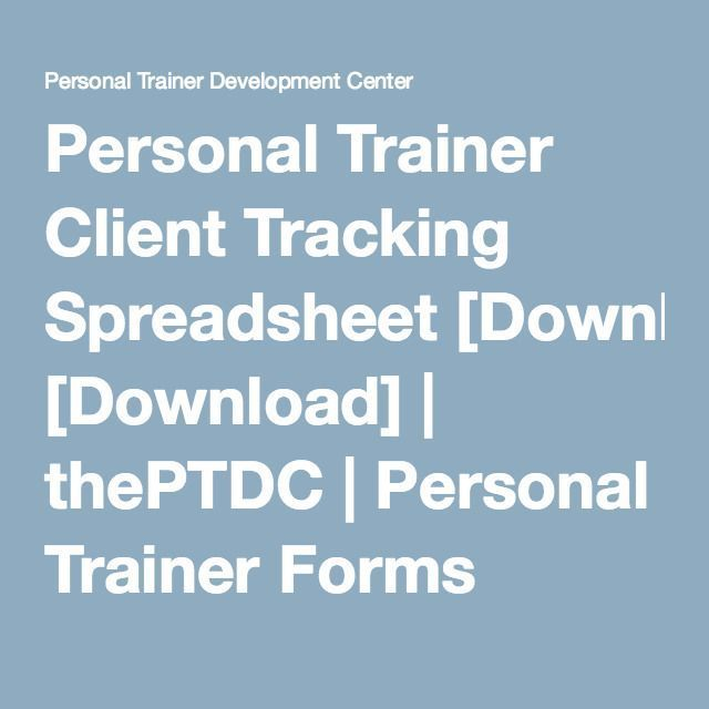 Personal Trainer Client Tracking Spreadsheet Download marketing - spreadsheet download
