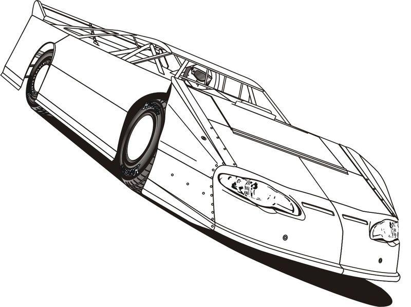 Racecar Coloring Page Printables