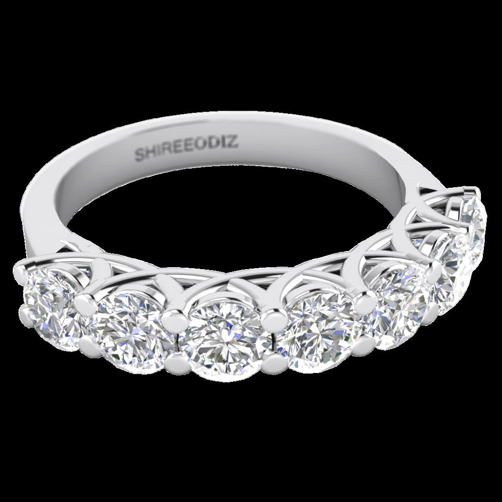 1.50 carat 7Stone Unique Diamond SemiEternity Rings in