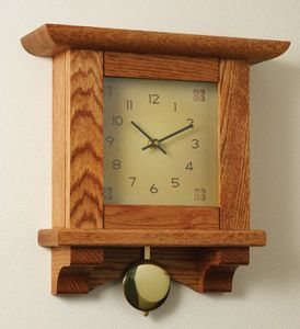 Craftsman Wall Clock Kit 139 99 Wall Clock Plans Woodworking Plans Patterns Woodworking Furniture Plans