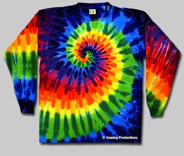 146cc755 Swirl Tie Dye Long Sleeve T-Shirt - Rainbow   Sundog: Custom t-shirt  designer, screen printer and manufacturer. Fairfax VA.