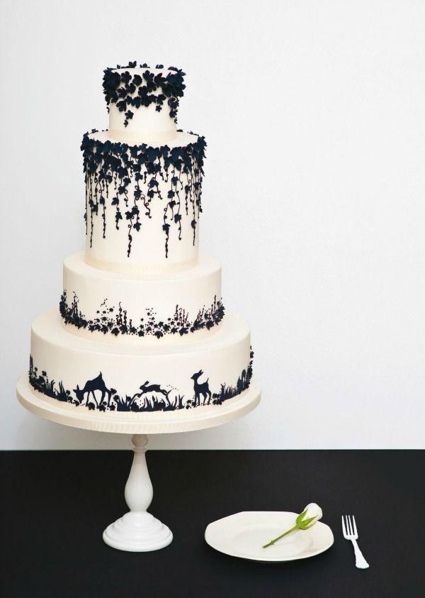 Modern Black And White Wedding Cakes Stunning Elegant