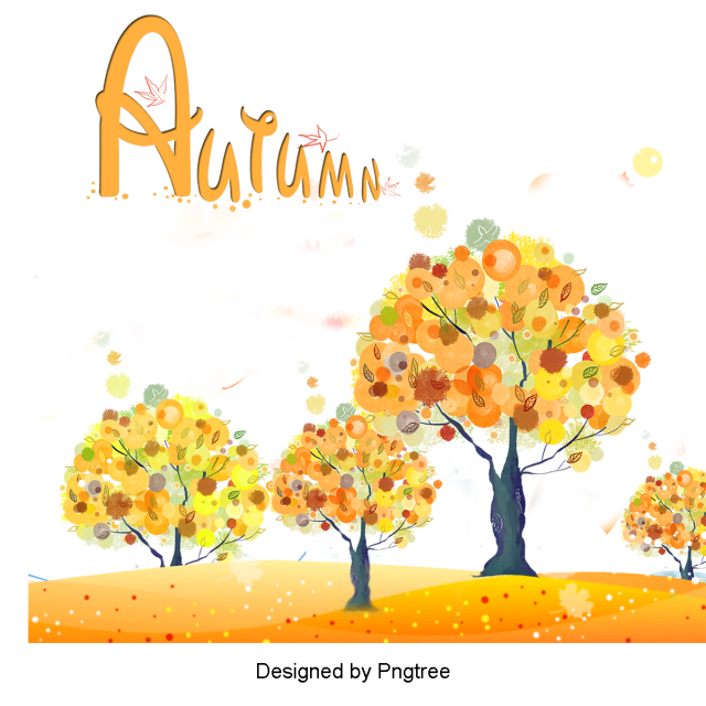 Simple Cartoon Hand Painted Autumn Element Design Autumn Clipart Tree Yellow Png Transparent Clipart Image And Psd File For Free Download Simple Cartoon Painting Watercolor Flowers