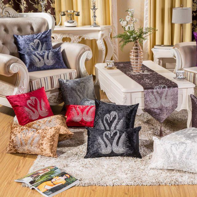 "18"" Sofa Cushion Cover Luxury Velvet Pillow Cover Home Decor Euro"