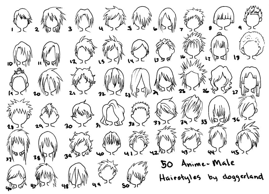 Cartoon Hair With Images Anime Hairstyles Male How To Draw