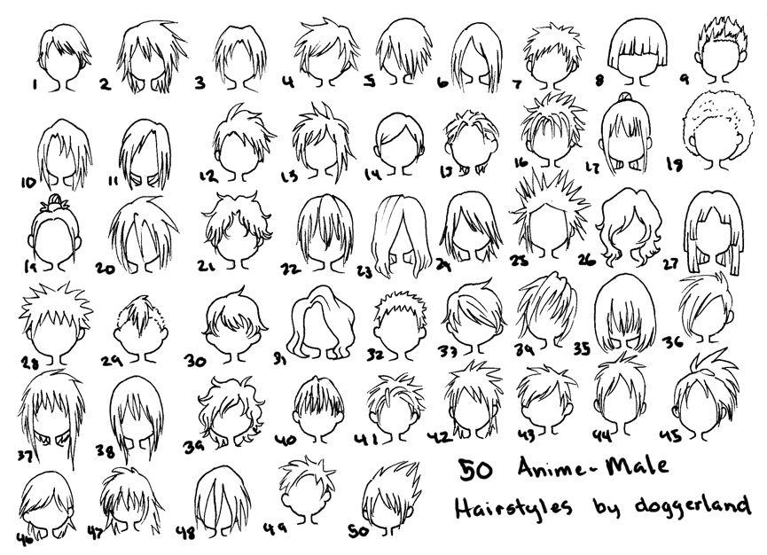 Cartoon hair Anime hairstyles male, How to draw hair