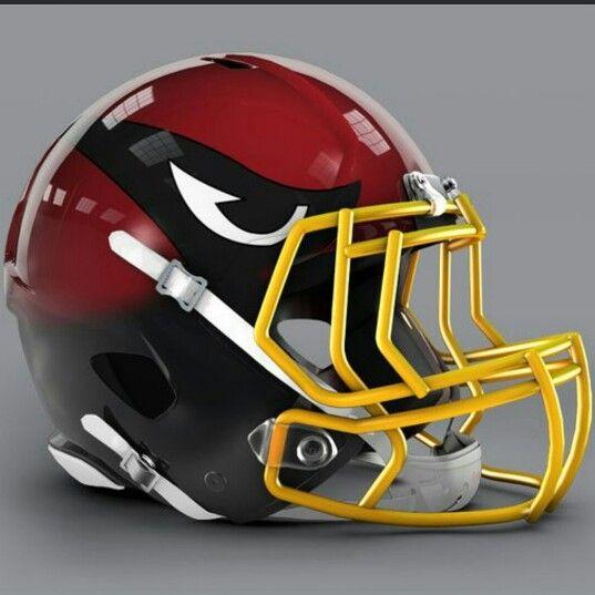 Nfl Concept Helmet Arizona Cardinals 2015 Football Helmets Cool Football Helmets Nfl Football Helmets