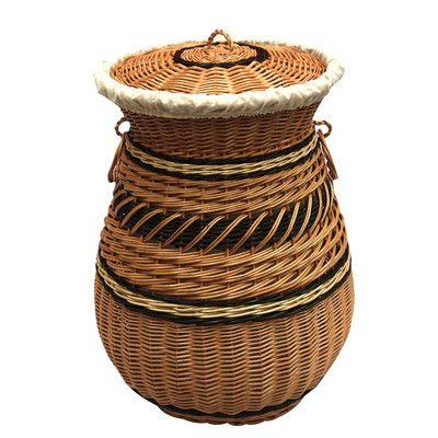 Round Wicker Laundry Bin Wicker Basket Wicker Baskets
