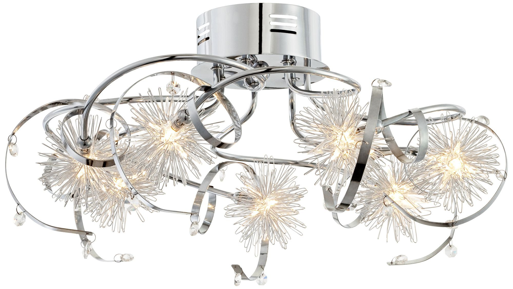 Cool Kids Ceiling Lights Constellations White Chrome Possini Euro Ceiling Fixture