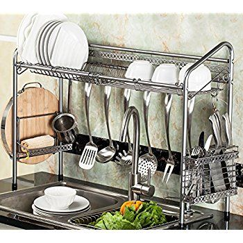 Amazon Drying Rack Amazon Geyueya Home Steel Wall Mount Dish Drying Rack Draining