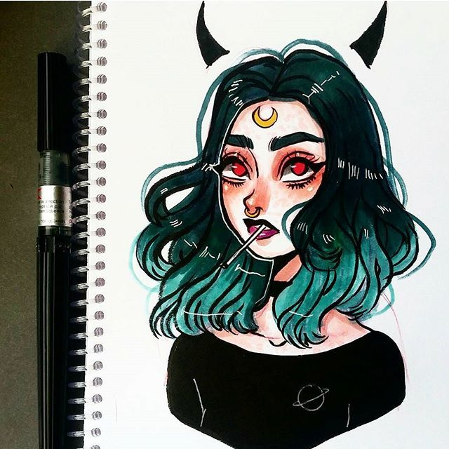 Why i keep drawing spooky stuff? #sketchbook #drawing # ... Copic Markers Drawing