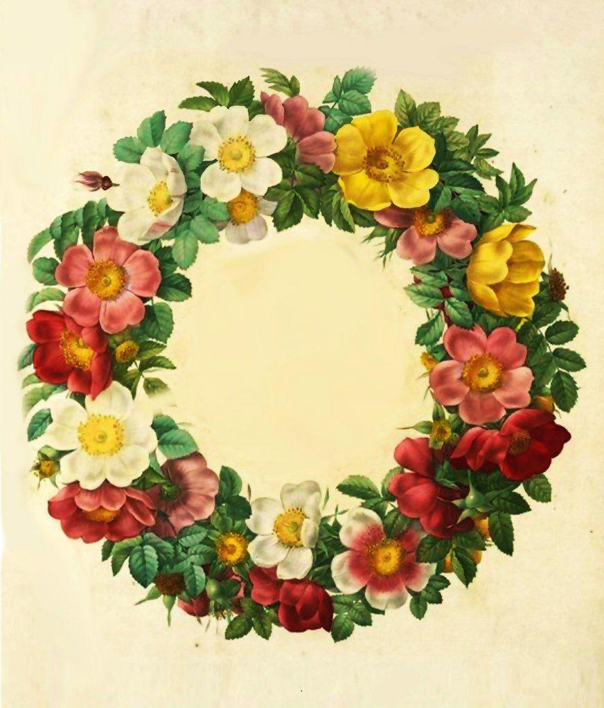 много декупаж картинки цветы венки хочу, чтобы счастлива