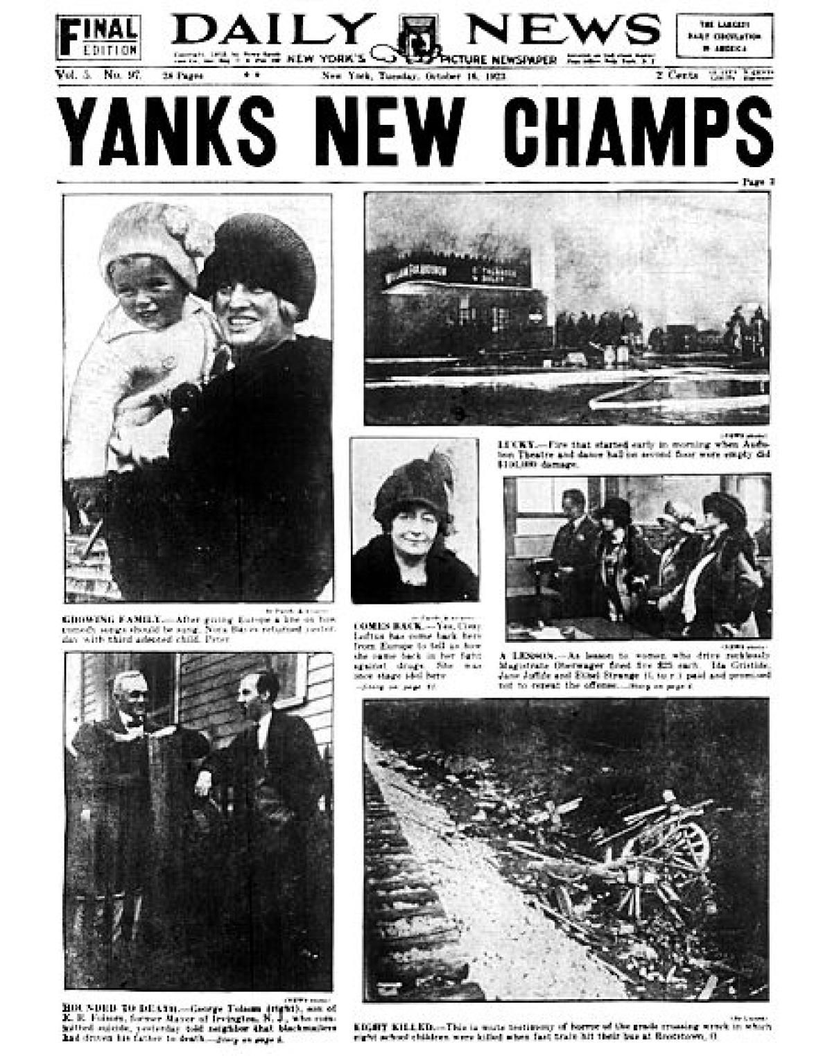 27 Yankees World Series Titles 27 Daily News Covers Slide 1 Yankees World Series World Series Yankees