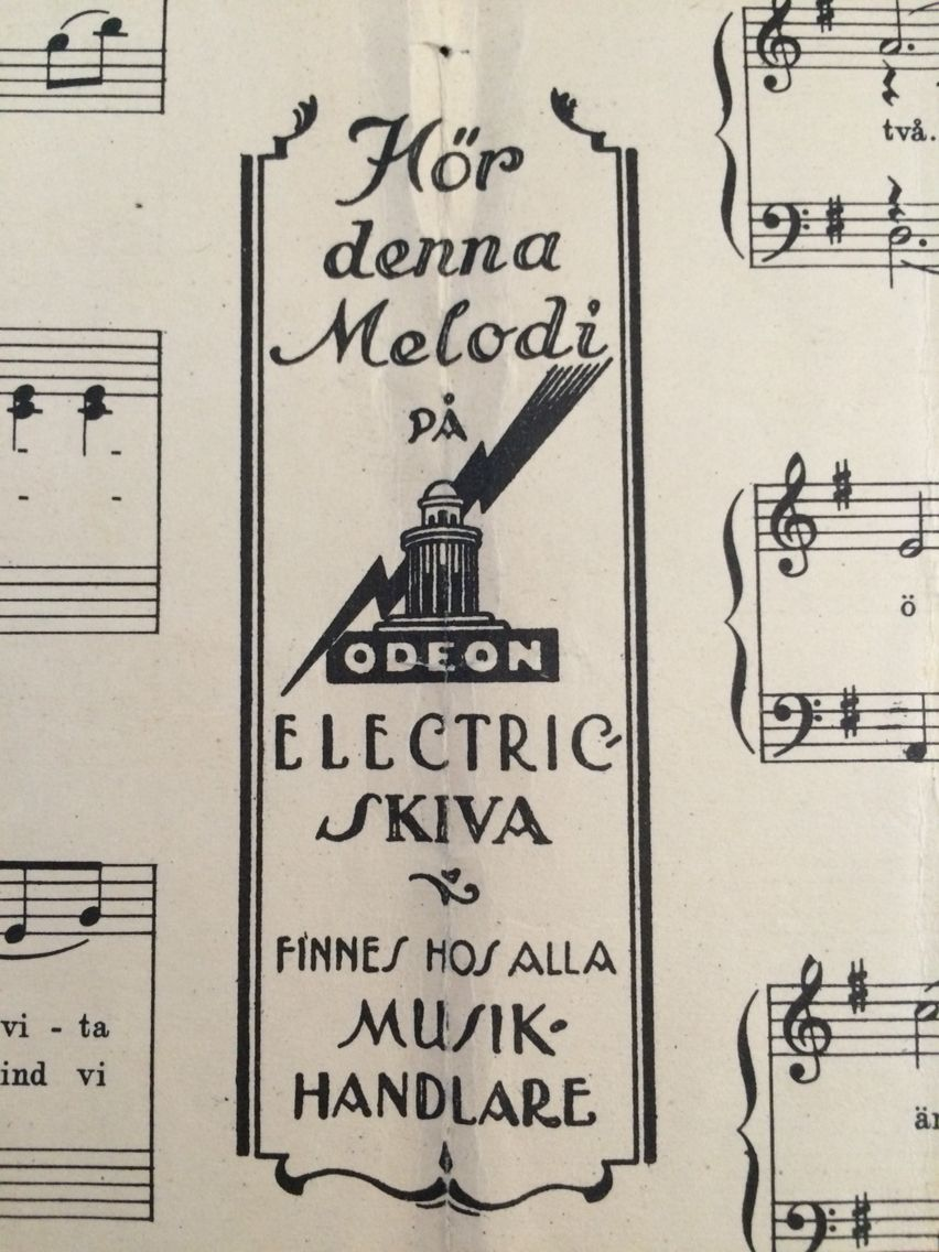 old sheet music lettering