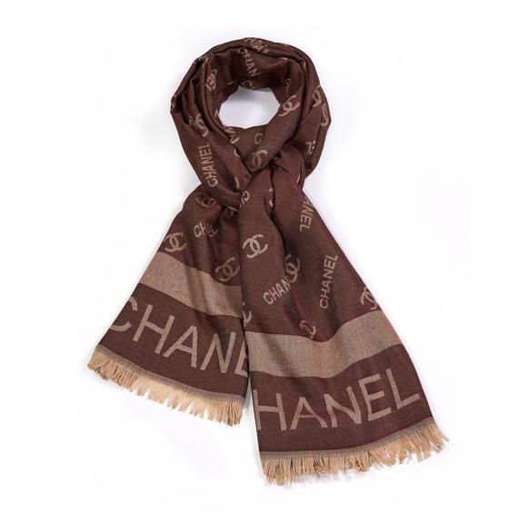 43d011a1dfd2 Brown Chanel Inspired Scarf